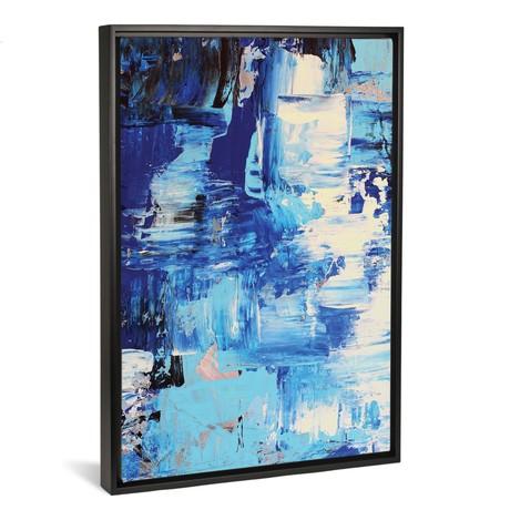 "Blue Abstract I // Radiana Christova (18""W x 26""H x 0.75""D)"