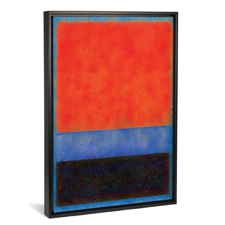 "Rothko Style Red Black And Blue // Tom Quartermaine (18""W x 26""H x 0.75""D)"