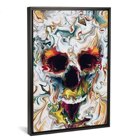 "Skull Abstract // Riza Peker (18""W x 26""H x 0.75""D)"