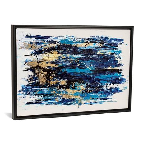 """Blue Tide // Nikki Chauhan (26""""W x 18""""H x 0.75""""D)"""