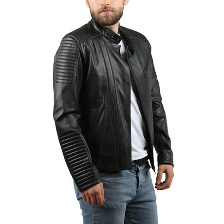 Natural Leather Jacket II // Black (XS)