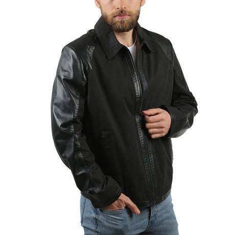 Army Leather Jacket // Black (XS)