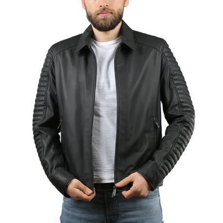 Tafta Leather Jacket // Black (XS)