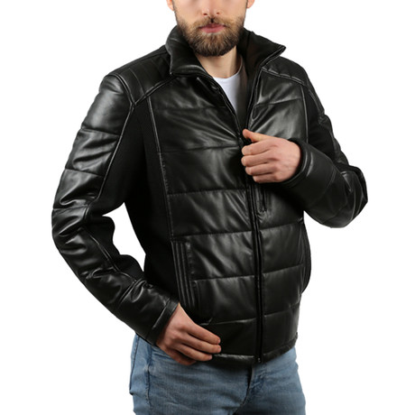 Natural Leather Jacket IV // Black (XS)