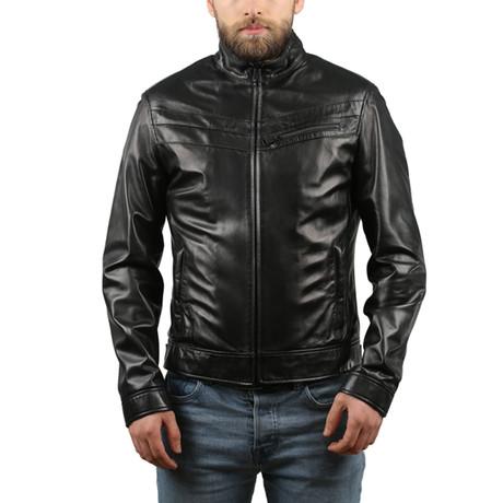 Elentra Leather Jacket // Black (XS)