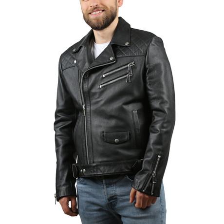 Kalin Kirispi Leather Jacket // Black (XS)