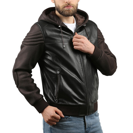 Leather Jacket // Brown (XS)