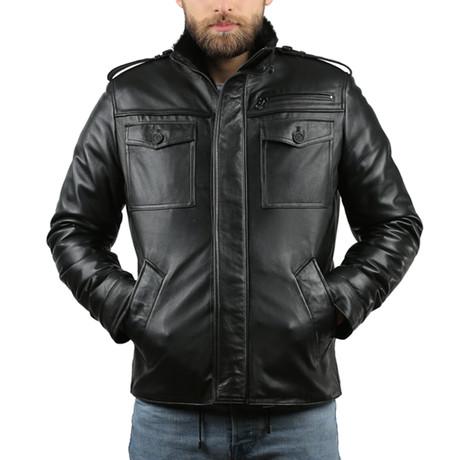 Natural Leather Jacket III // Black (XS)