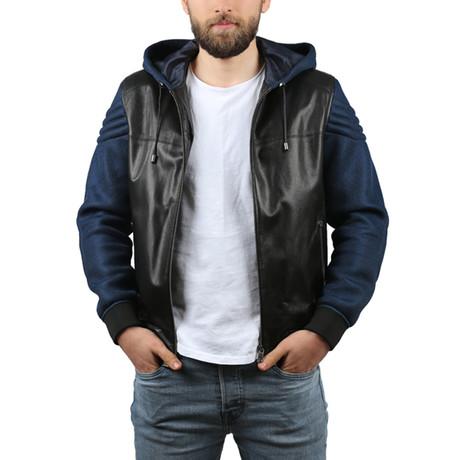 Antik Leather Jacket // Black + Blue (3XL)