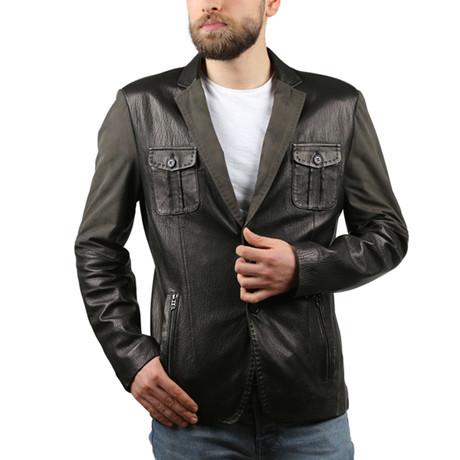 Jumbo Leather Jacket // Black (XS)
