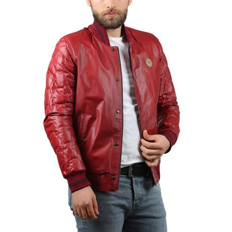 Natural Leather Jacket // Bordeaux (XS)