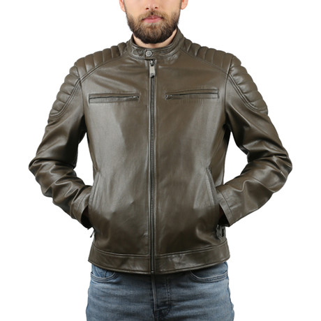 Natural Leather Jacket // Brown (XS)