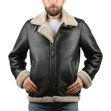 Silky Leather Jacket // Black (XS)