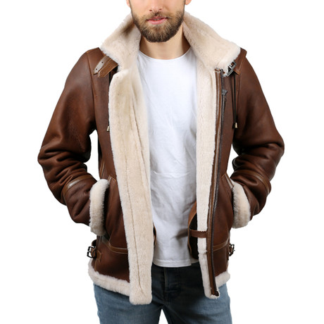 Silky Leather Jacket // Whiskey (XS)