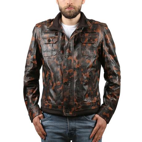 Kamuflaj Leather Jacket // Whiskey (XS)