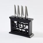 Shiroi Hana Steak Knife // Set of 4 x 2 Hanami Steak Knife Block