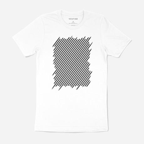 Minimal Lines Graphic T-Shirt // White (S)