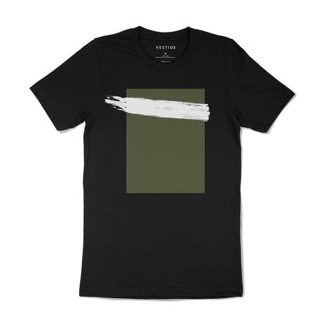 Acrylic Stripe Redux Graphic T-Shirt // Black (S)