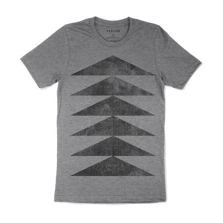 Chevron Graphic T-Shirt // Gray (S)