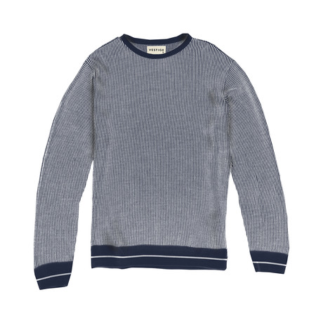 Striped Pullover // Navy (S)