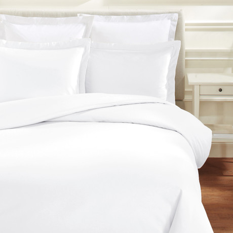 Hemstitch Duvet Set // 600TC // White (Full/Queen)