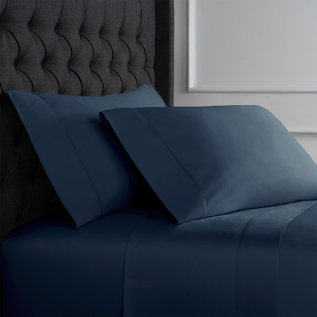 Hemstitch Sheet Set // 600TC // Navy (Full)