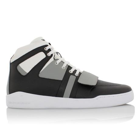Manzo High-Top // Black + Gray + White (US: 7)