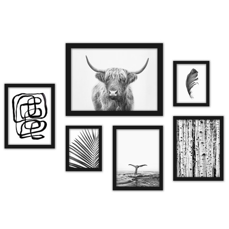 Black & White Art Framed Gallery Wall Set
