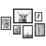 Black & White Art Framed Gallery Wall Set