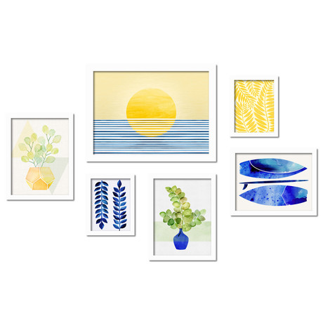 Modern Tropical Framed Gallery Wall Set II