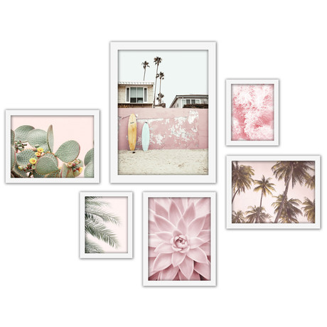 Southwest Beach Photography Framed Gallery Wall Set