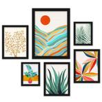 Modern Tropical Framed Gallery Wall Set VI