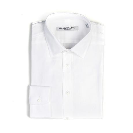 BKT20 Open Weave Cotton Dress Shirt // White (XS)