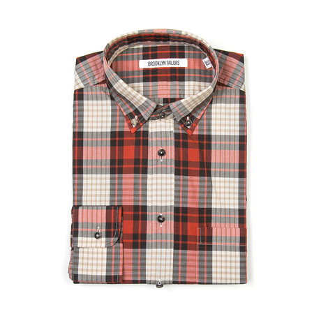 BKT10 Casual Shirt // Large Red Plaid (XS)