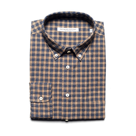 BKT10 Sport Shirt // Rust + Charcoal (XS)