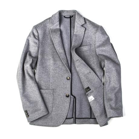 BKT35 Jacket // Gray Angora Wool (XS)