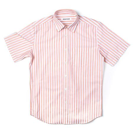 BKT14 Short Sleeve Shirt // White + Orange Stripes (XS)