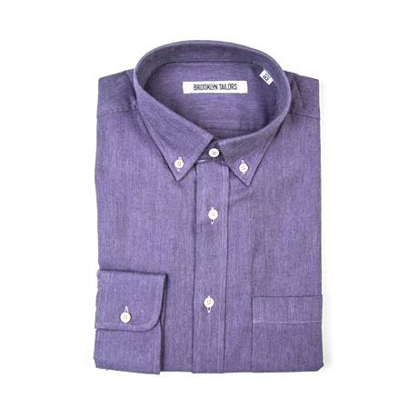 BKT10 Sport Shirt // Purple Flannel (XS)