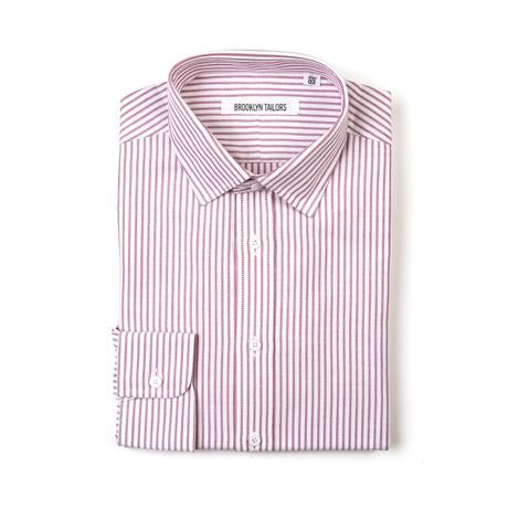 BKT20 Dress Shirt // White Oxford + Red Stripe (XS)