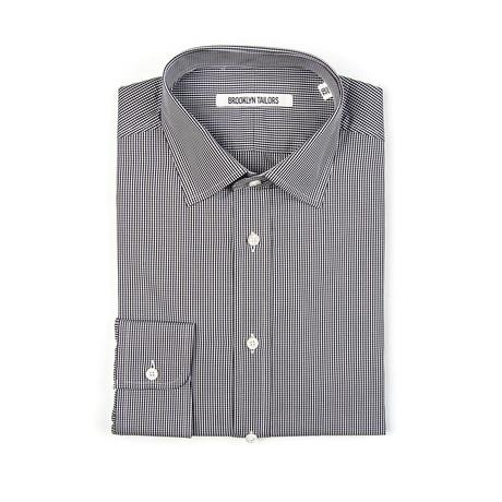 BKT20 Dress Shirt // Black + White Micro Gingham (XS)