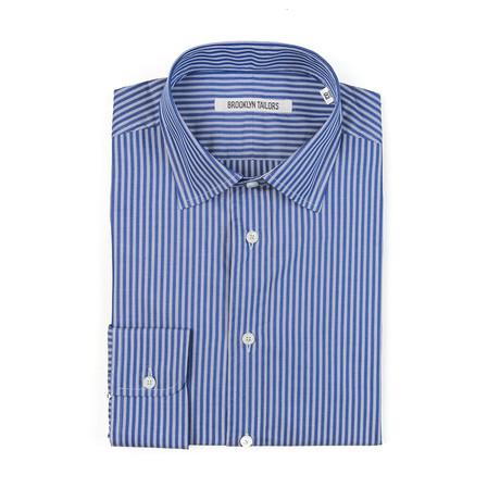 BKT20 Dress Shirt // Navy + White Twin Stripe (XS)