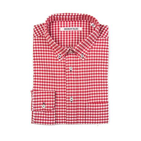 BKT10 Sport Shirt // Red Gingham Flannel (XS)