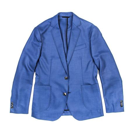 BKT35 Unstructured Jacket // Bright Blue Hopsack (XS)