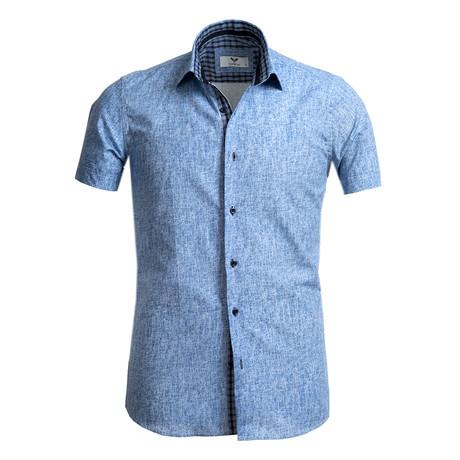Short Sleeve Button Up // Denim Blue (S)