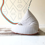 Handloom Cotton Beanbag // Unfilled // Calcite + Mud