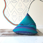 Handloom Cotton Beanbag // Unfilled // Andromeda + Charcoal