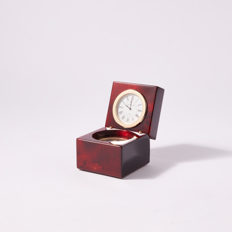 Executive Piano Finish Miniature Gimbaled Boxed Compass