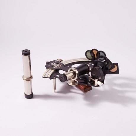 British Admiral's Micrometer Sextant w/ Case
