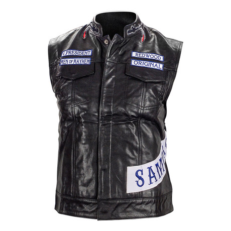 Charlie Hunnam Autographed Leather Motorcycle Vest