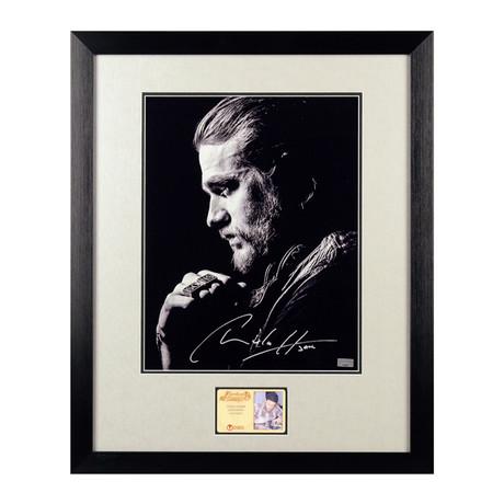 Charlie Hunnam Autographed Jax Teller Framed